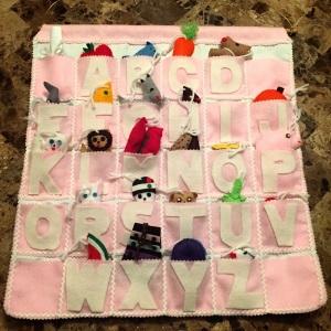 Handmade alphabet chart