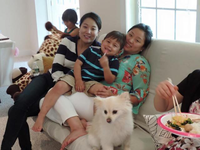 my cousins: sarah, mason, and sarah (mason's mom)