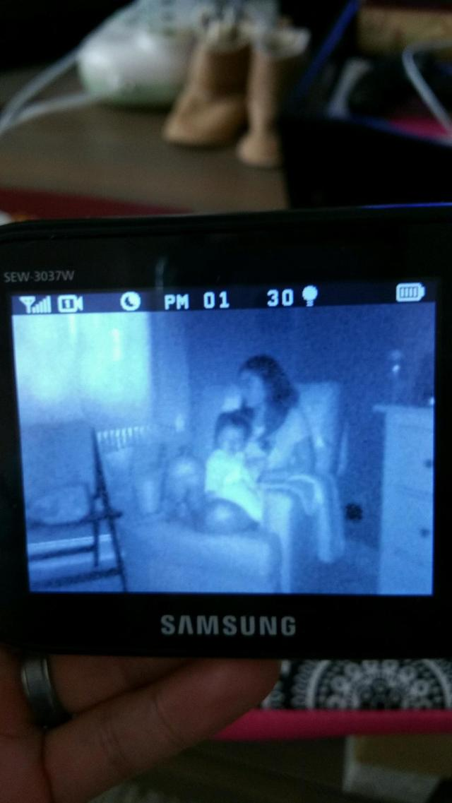 dennis used the monitor to see what we were up to when penny woke up early from her nap last sunday :)