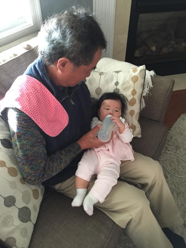 dad feeding penny